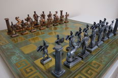 Chess with Hellenic figures