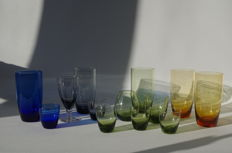 Max Verboeket for Kristalunie Maastricht - 13 pieces of the Carnaval glass tableware