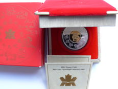 Canada - 15 dollars 2001 'Year of the Snake' gold-plated - silver