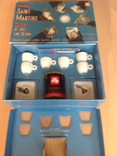 Illy collection 2000 Central Saint Martins - Set van 6 espressokopjes met schoteltjes