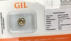 Diamond – 1.51 ct, Si1 – NO RESERVE PRICE Natural Fancy Intense Greenish Yellow