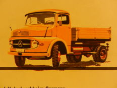 MERCEDES-BENZ old delivery vans and trucks brochures from 1957 onward