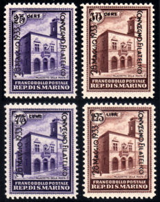 San Marino 1933 - Philatelist Convention complete series - Sass.  No.  159-163