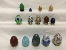 Collection of 14 Franklin Mint eggs, 1990