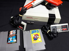 Original Nintendo NES set with 2 games - with new pin