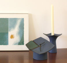 Zweitse Landsheer for Cor Unum - Table clock and candle holder