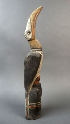 Great hornbill bird figure - Sepik - Papua New Guinea