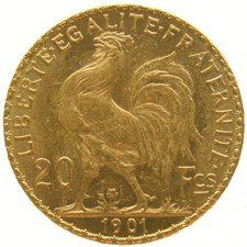 France - 20 francs 1901, Marianne liberty head - gold