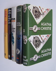Agatha Christie - Crime Club first edition facsimiles - 5 titles - 2005/2009