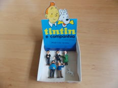 Herge - 6x poppetjes Livraria Bertrand + originele display - complete serie - Tintin e companhia - Portugese uitgave (1971)