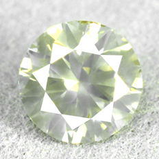 Diamond - 1.00 ct, Si1 - Natural Fancy Grayish Yellow