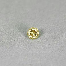 Natural Fancy orangy Yellow Diamond - 0.17 ct - NO RESERVE PRICE - Si1