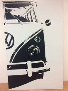 Decal art - VW T1 Samba bus Porsche motif - 64 x 100 cm