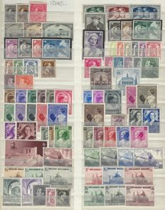 Belgium 1934/1940 - complete series without blocks, with stamps from blocks - OBP nos. 401-537
