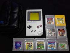 Nintendo Gameboy Classic set incl. 9 games