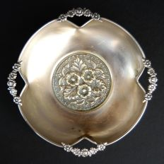 Antique Silver Plated Footed Bowl, European, First Half of 20th Century