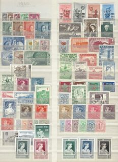 Belgium - complete years 1949, 1950 and 1951, without blocks or stamps from blocks, 1 type of paper - OBP numbers 798 to 875
