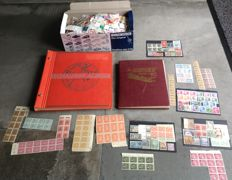 World - 2 albums Schaubek album with China, Deutsche Reich, Russia, Austria and rest world, box loose stamps