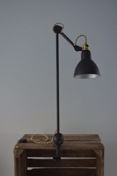 "Bernard-Albin Gras - original first production ""Lampe Adjustable GRAS brevetée S.G.D.G"""