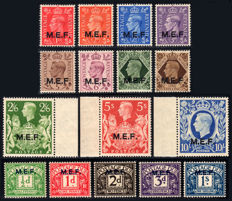 British Occupation of Former Italian Colonies - M. E.F. 1942-47 (London) + Postage due complete series - Sass. Nos. S 4 and 5