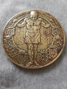 "The Netherlands - Medal 1914 ""75 years Holland Iron Railway Company"""