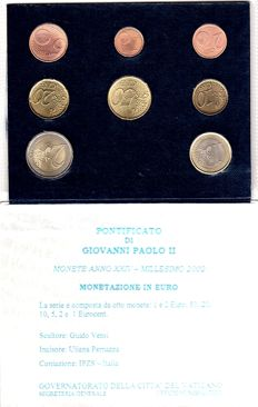 Vatican City - euro 2002 Vatican City original coin set Vatican City in blister packaging