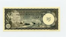 Netherlands Antilles - 25 Gulden 2.1.1962 - Pick 3a - Monument in Kralendijk