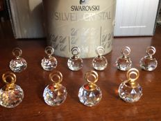 Swarovski - Extremely rare small rhodium and gold-plated placeholders