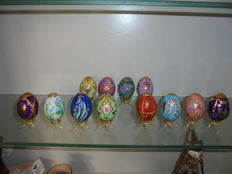 Collection of 12 Fabergé eggs