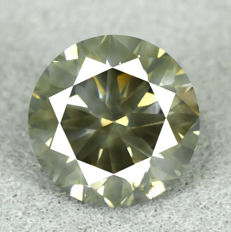 Diamond - 1.71 ct, Natural Fancy Intense Yellowish Green
