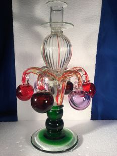 Murano (unknown) - fancy vintage candlestick, signed (33 cm)