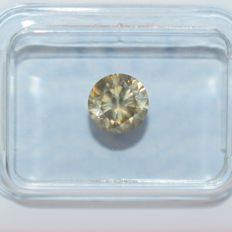 Diamant - 1.02 ct, Natural Fancy Greenish Yellow