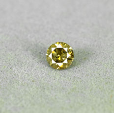 Diamond - 0.20 ct, Si1 - Fancy Yellowish Brown
