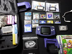 Nintendo Gameboy Advance set incl. 16 games and accessoires