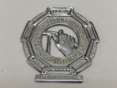 Original Vintage Solid Heavy Aluminium Sweden 10 Year Driving Award Car Badge Auto Emblem 9.5 cm x 9 cm Dated 1961