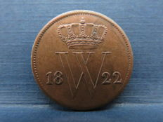The Netherlands - 1 cent 1822 Brussels, Willem I - copper