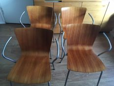 Vico Magistretti for Fritz Hansen – VICO DUO Design chairs, set of 4