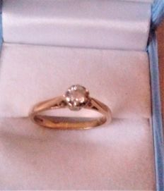 Vintage 18 ct Gold & Diamond Set Ring
