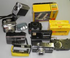 Lot of Kodak cameras, 1960s