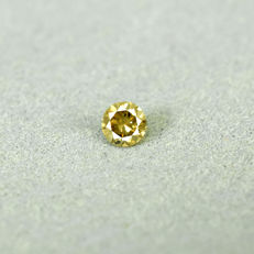 Fancy greenish Yellow Si2 Diamond - 0.17 ct, NO RESERVE PRICE