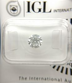 1.04 ct Round cut diamond D SI1   -No Reserve