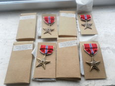 4 x American Bronze Star Medal, in mint condition