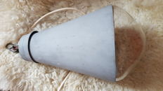 Industrial conical lamp with rare and very large Philips headlamp