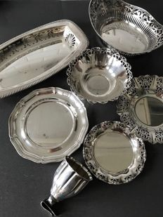 Collection of silver plated objects