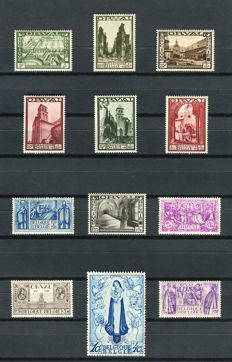 Belgium 1933 - large Orval - OBP 363/374