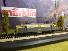 Märklin H0 - 3055.6 - Electric locomotive Series 1200 of the NS, no. 1205 yellow/grey