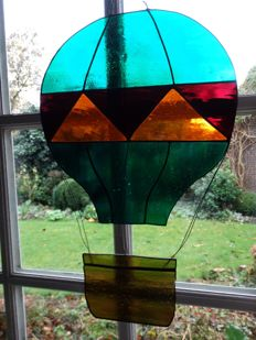 Tiffany hot air balloon suncatcher