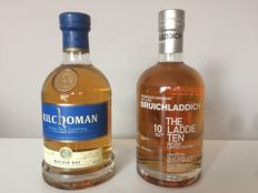 2 Bottles - Bruichladdich-The Laddie Ten Second Limited Edition + Kilchoman Machir Bay