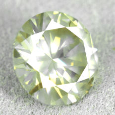 Diamond - 1.22 ct - Natural Fancy Light Greyish Yellow