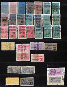 France 1892/1938 - Collection of 100 postal package stamps